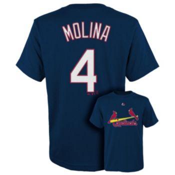 Boys 8-20 Majestic St. Louis Cardinals Yadier Molina Tee