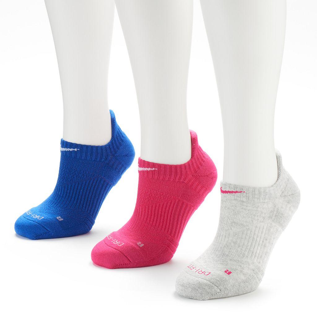 Nike 3-pk. Dri-FIT Cushioned No-Show Socks