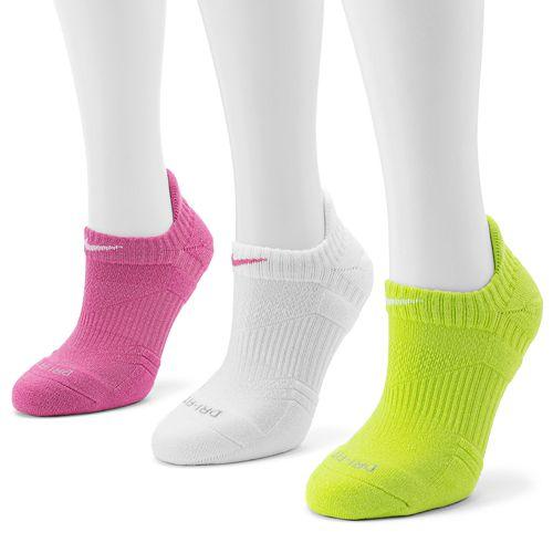 new arrival d1cc0 be578 Nike 3-pk. Dri-FIT Cushioned No-Show Socks
