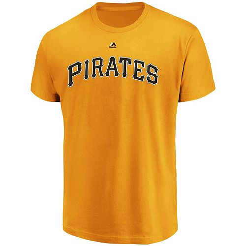 Men's Majestic Pittsburgh Pirates Official Wordmark Tee