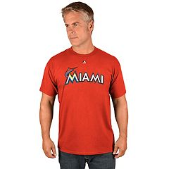 Men's Majestic Miami Marlins Official Wordmark Tee