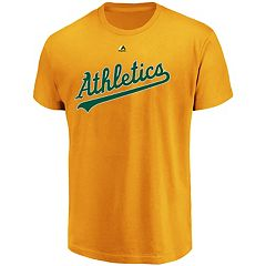 Men's Majestic Oakland Athletics Official Wordmark Tee