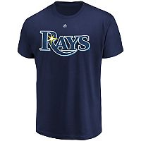 Men's Majestic Tampa Bay Rays Official Wordmark Tee
