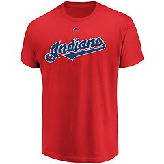 Men's Majestic Cleveland Indians Official Wordmark Tee