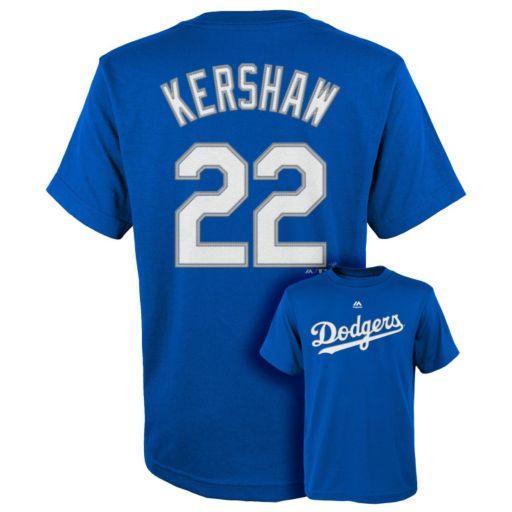 Boys 8-20 Majestic Los Angeles Dodgers Clayton Kershaw Tee