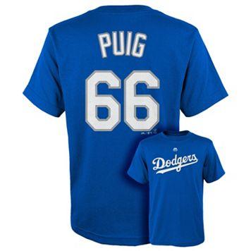 Boys 8-20 Majestic Los Angeles Dodgers Yasiel Puig Tee