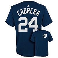 Boys 8-20 Majestic Detroit Tigers Miguel Cabrera Tee