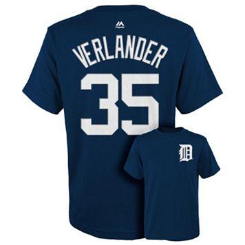 Boys 8-20 Majestic Detroit Tigers Justin Verlander Tee
