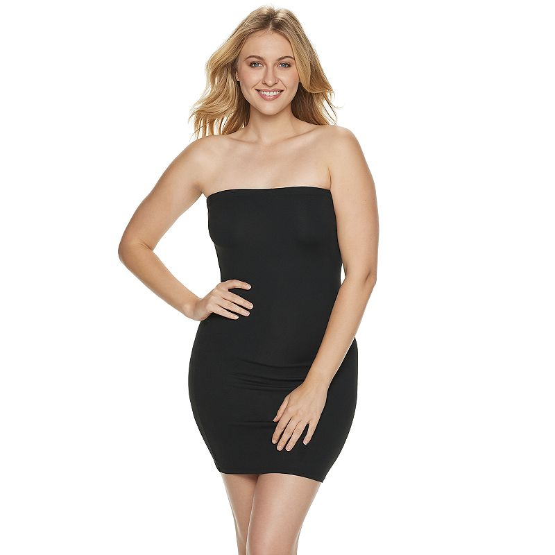 ASSETS Red Hot Label by Spanx Sleek Slimmers Strapless Full Slip - Women's Plus - 2253P