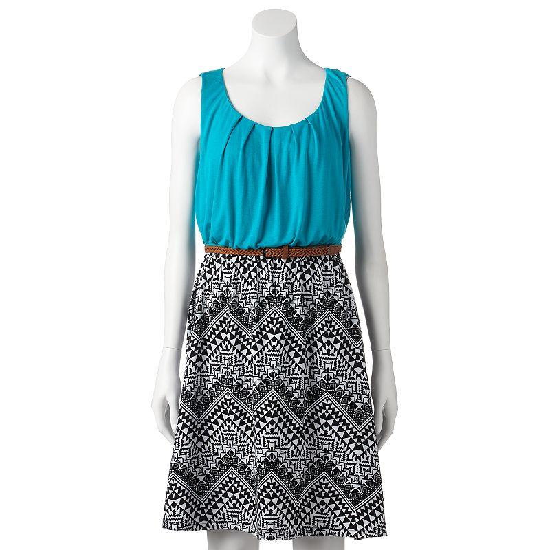 ab studio mixed media chevron dress women 39 s