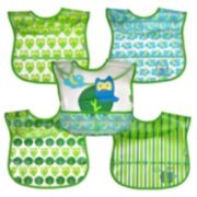 Green Sprouts by i play. 5-pk. Wipe-Off Bibs