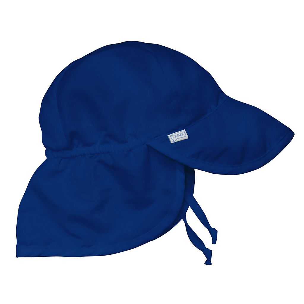 i play. Solid Flap Sun Protection Hat - Newborn