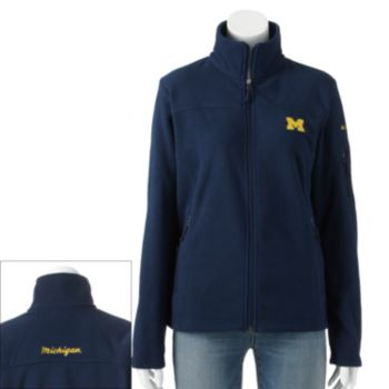 Women's Columbia Michigan Wolverines Give And Go Microfleece Jacket
