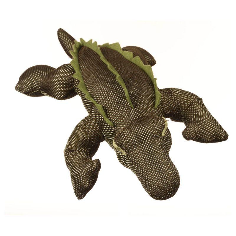 Multipet Dazzlers Alligator Plush Dog Toy (Green)