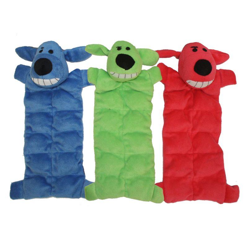 Multipet 3-pk. Loofa Mat Plush Dog Toys