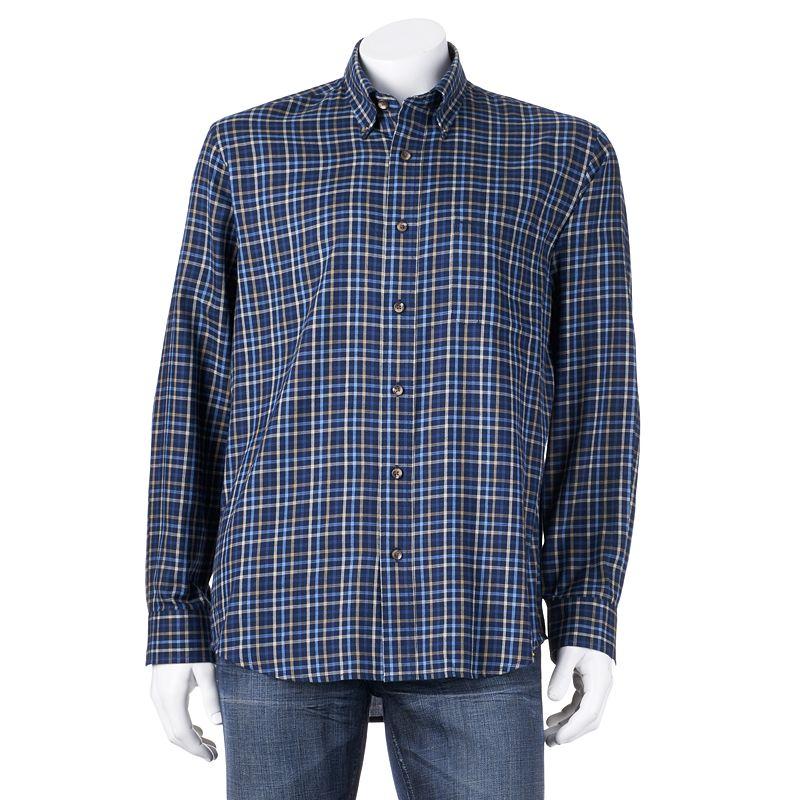 Grey cotton polyester shirt kohl 39 s for Van heusen studio shirts big and tall