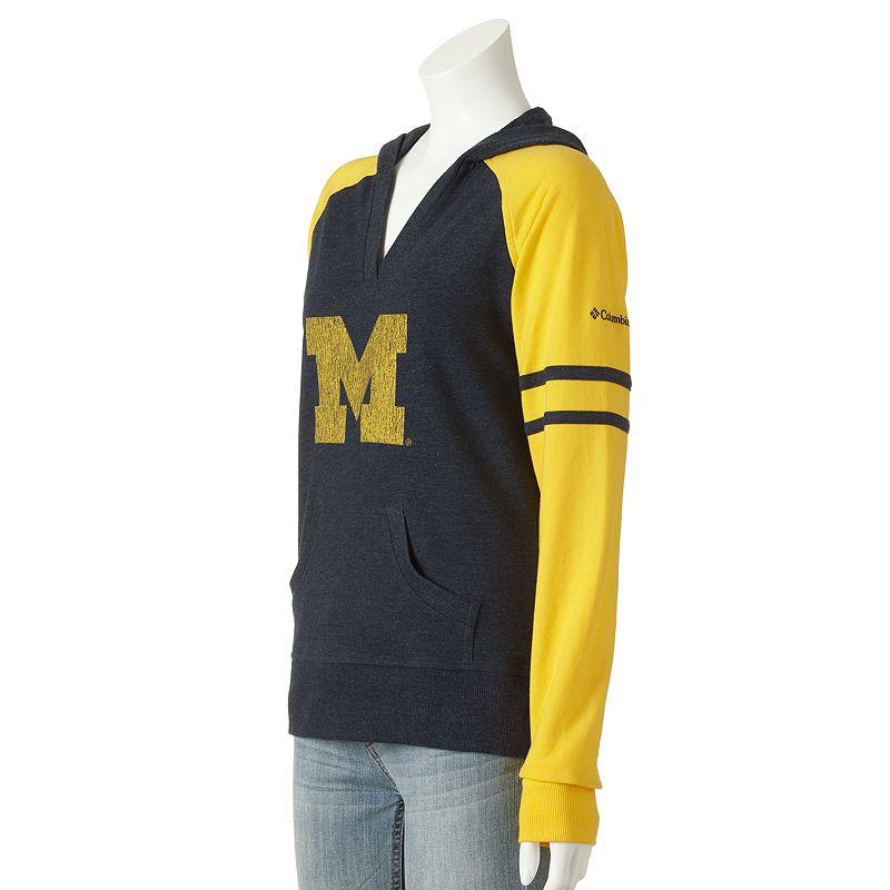 Columbia Sportswear Michigan Wolverines Campus Cutie Colorblock Hoodie - Women's