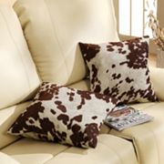 HomeVance 2 pc Cowhide Print Accent Pillow Set