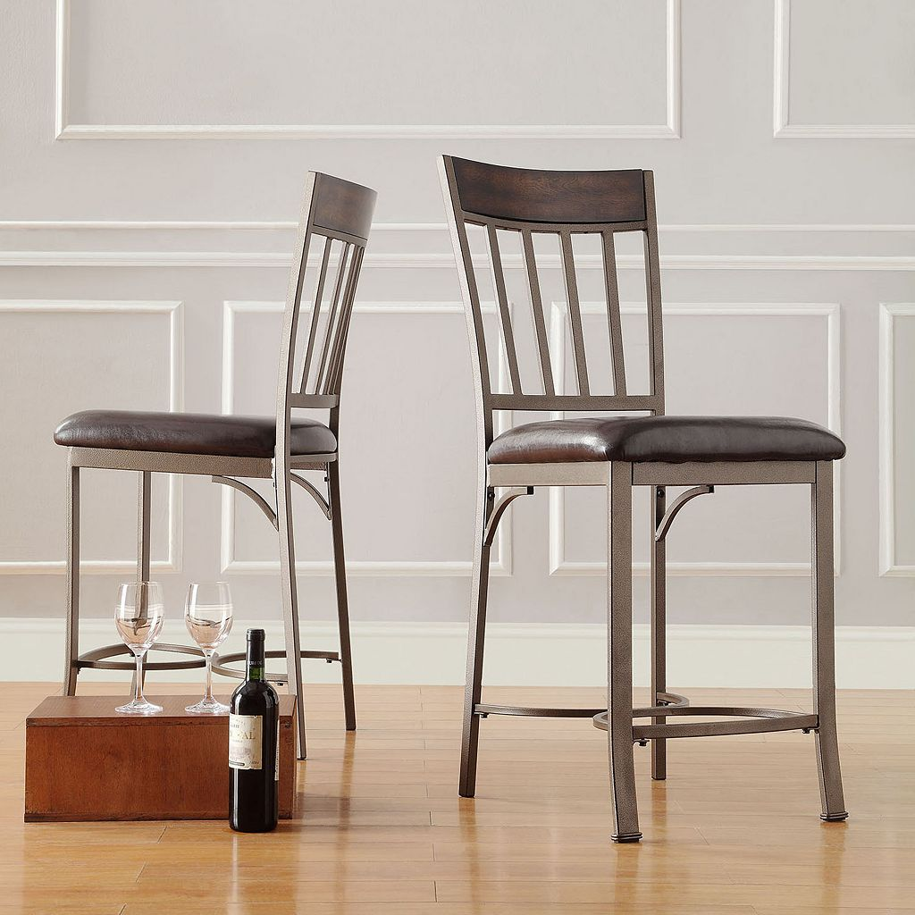 HomeVance 2-pc. Kimbie Counter Chair Set