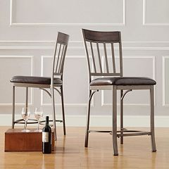 HomeVance 2 pc Kimbie Counter Chair Set