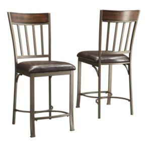 HomeVance 2-pc. Kimbie Counter Chair Set