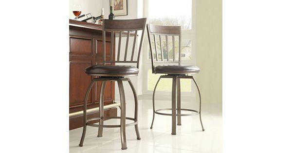Homevance 2 Pc Kimbie Swivel Counter Chair Set