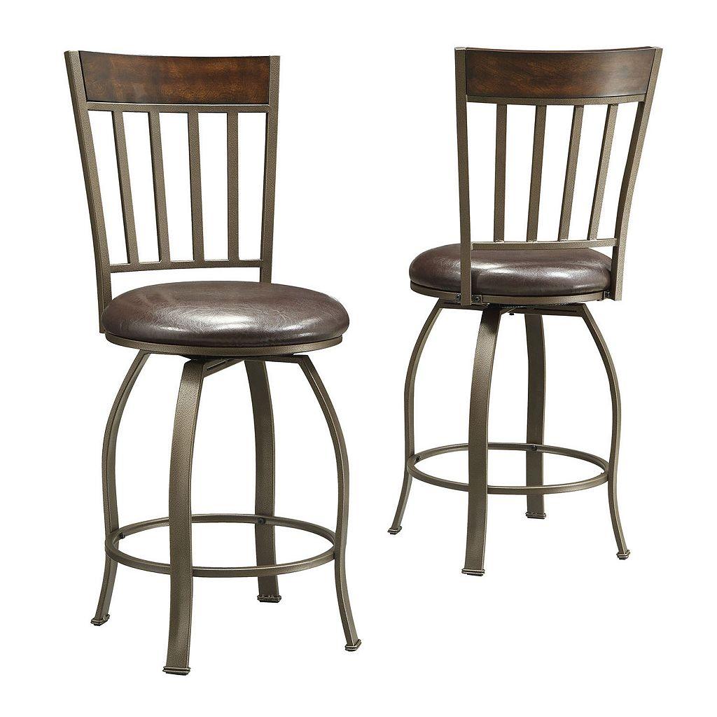 HomeVance 2-pc. Kimbie Swivel Counter Chair Set