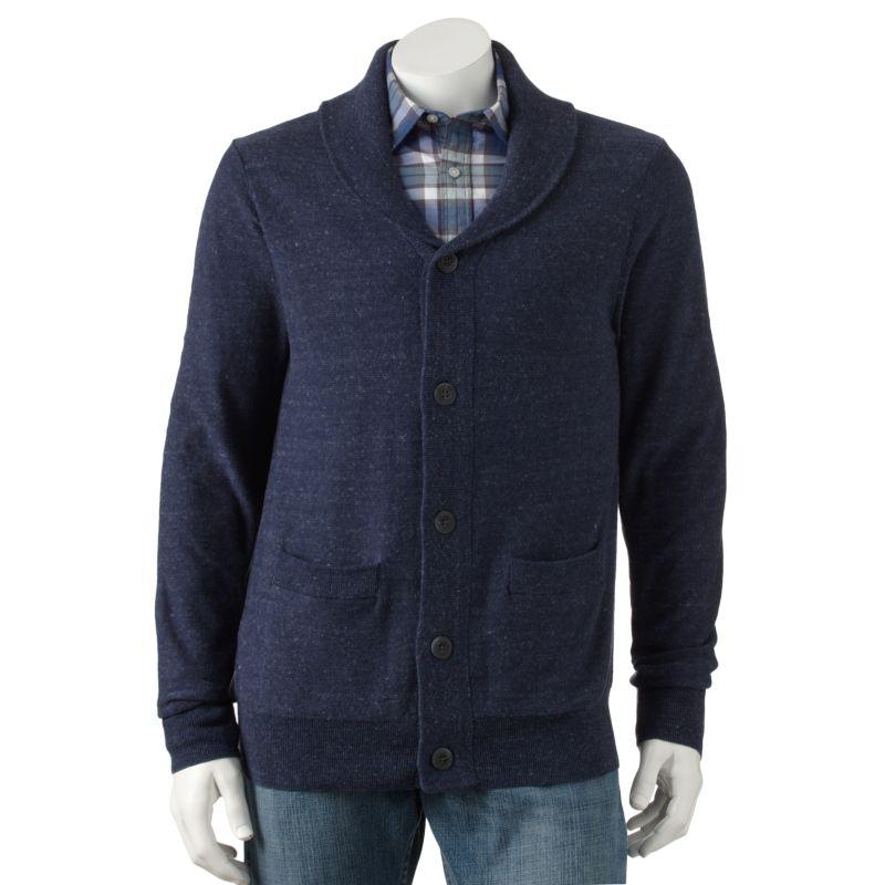 Men'S Cardigan Polyester Sweater Acrylic 87
