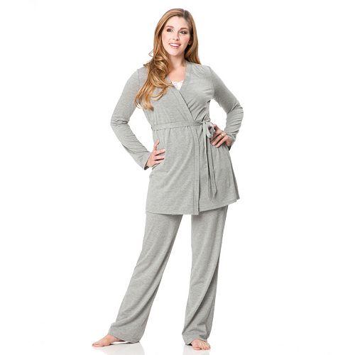 b8f21361ad9cf Maternity Oh Baby by Motherhood™ 3-Piece Nursing Pajama Set