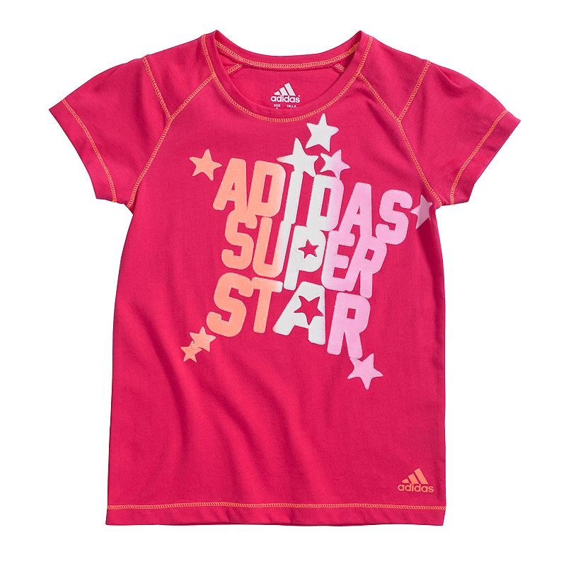 adidas Super Star Graphic Tee - Girls 4-6x