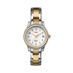 Timex Women's Two Tone Dress Watch - T257719J
