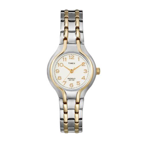 Timex Two Tone Dress Watch - T271919J - Women