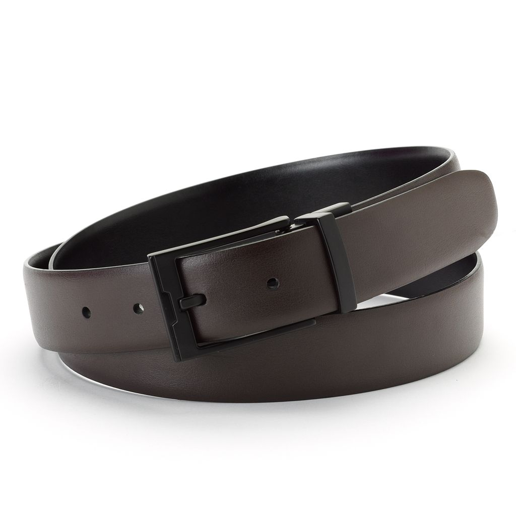 Apt. 9® Cop Reversible Faux-Leather Belt - Men