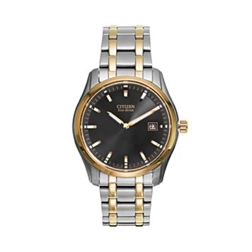 Citizen Men's Eco-Drive Two Tone Stainless Steel Watch - AU1044-58E