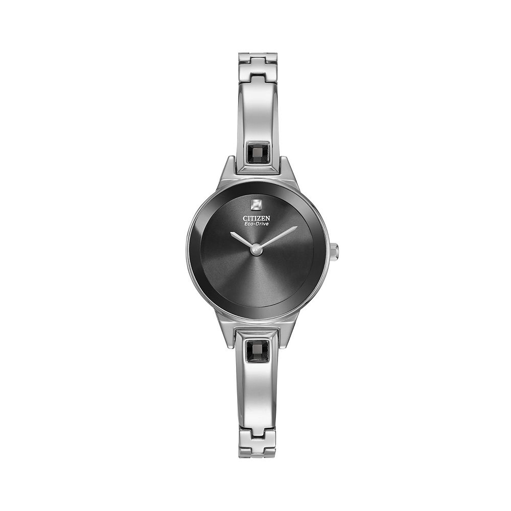 Citizen Eco-Drive Women s Silhouette Stainless Steel Half-Bangle Watch -  EX1320-54E a25f0c2acf