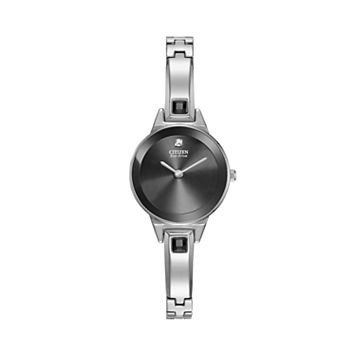 Citizen Eco-Drive Women's Silhouette Stainless Steel Half-Bangle Watch - EX1320-54E