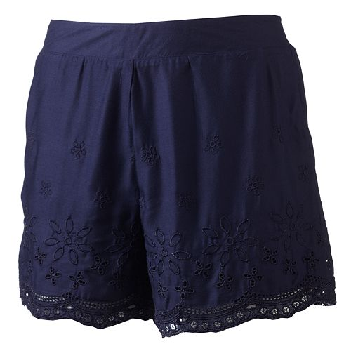 LC Lauren Conrad Embroidered Challis Shorts - Women's