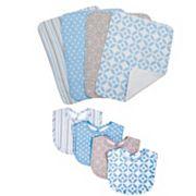 Trend Lab Lauren Lily Logan 8 pc Bib & Burp Cloth Set