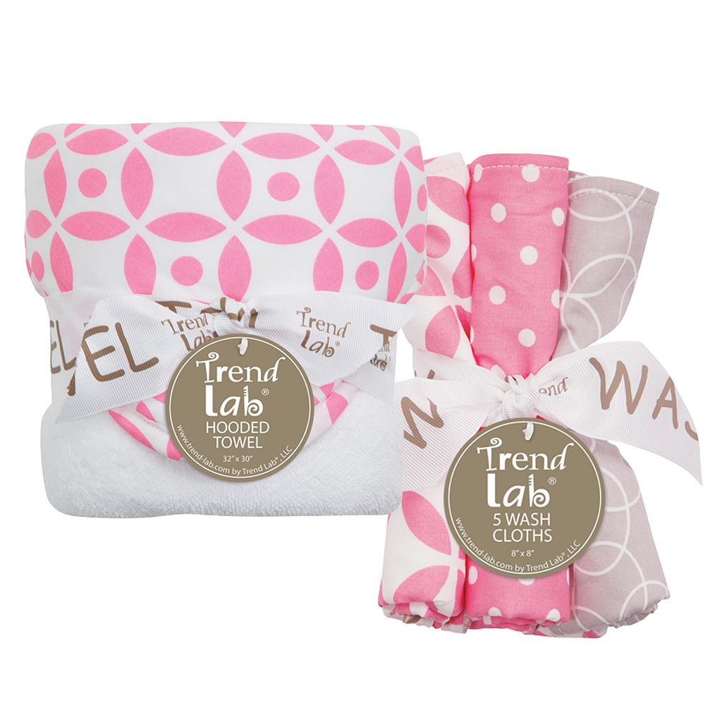 Trend Lab Lauren Lily Logan 6-pc. Hooded Towel Set