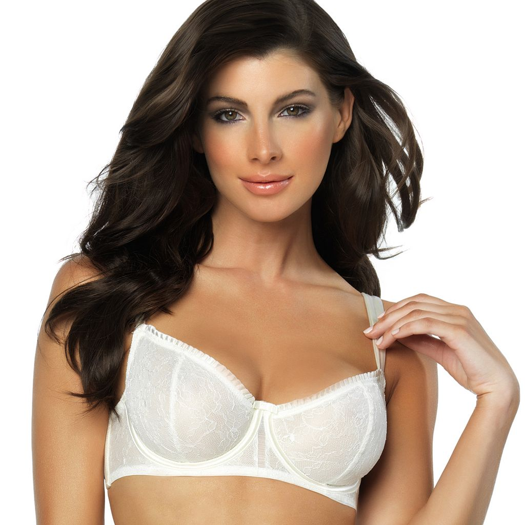 Paramour by Felina Bra: Decadent Full-Coverage Lace Unlined Demi Bra 115004