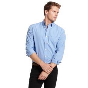 Men's IZOD Checked Casual Button-Down Shirt