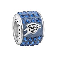 LogoArt Oklahoma City Thunder Sterling Silver Crystal Logo Bead - Made with Swarovski Crystals