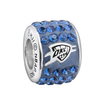 LogoArt Oklahoma City Thunder Sterling Silver Crystal Logo Bead - Made with Swarovski Crystals