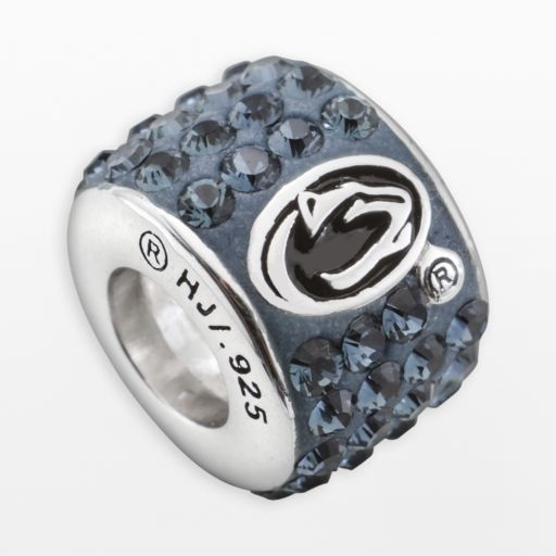 LogoArt Penn State Nittany Lions Sterling Silver Crystal Logo Bead - Made with Swarovski Crystals