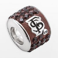 LogoArt Florida State Seminoles Sterling Silver Crystal Logo Bead - Made with Swarovski Crystals