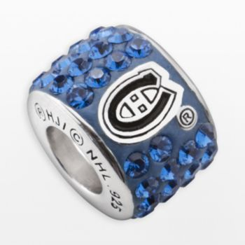 LogoArt Montreal Canadiens Sterling Silver Crystal Logo Bead Made with Swarovski...
