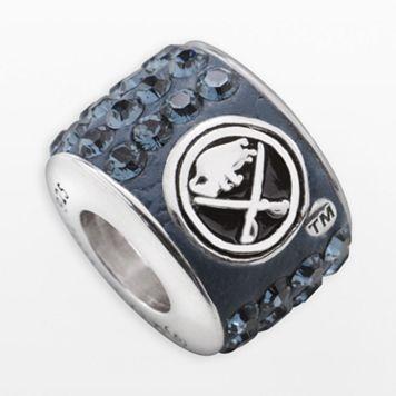LogoArt Buffalo Sabres Sterling Silver Crystal Logo Bead - Made with Swarovski Crystals
