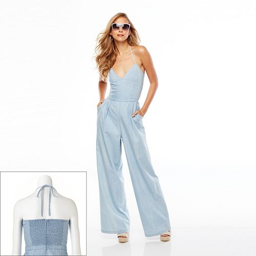 Women's Jennifer Lopez Chambray Jumpsuit