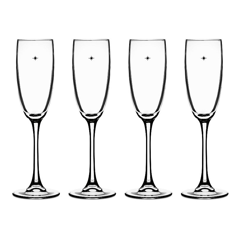 Cuisinart The Star's The Limit 4-pc. Champagne Flute Set, White
