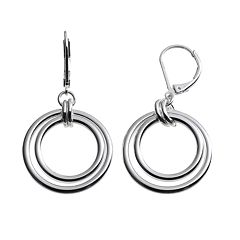 Dana Buchman Hoop Drop Earrings